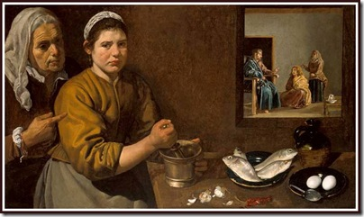 Velazquez - Christ in the house of Martha and Mary