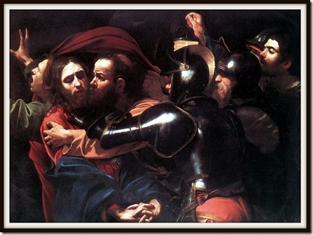 The Taking of Christ, Michelangelo Merisi da Caravaggio (c. 1602)